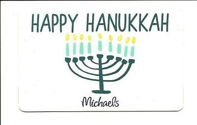 Michaels Store Happy Hanukkah Gift Card No $ Value Collectible