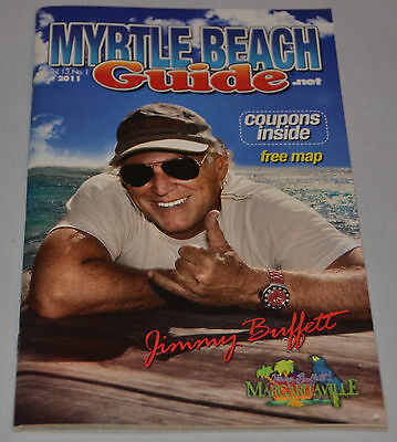 Myrlte Beach Guide 2011 ft JIMMY BUFFETT Margaritaville Myrtle Beach SC Book