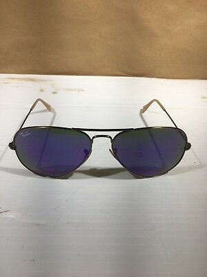 30a41a81383 Ray-Ban Aviator Sunglasses Bronze Polarized Lilac Purple Mirror Flash RB3025