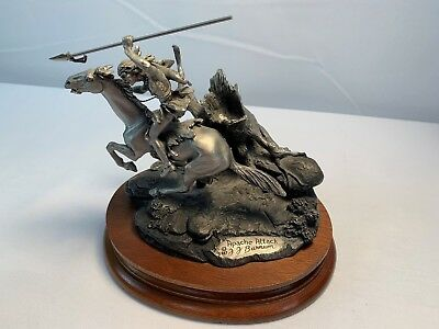 """Chilmark Pewter  """"Apache Attack """" by Francis J. Barnum  1987 Limited Edition"""