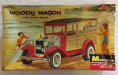 Monogram Woody Wagon BOX ONLY 1/24 Original 1965 PC103-150 vintage kit box only.