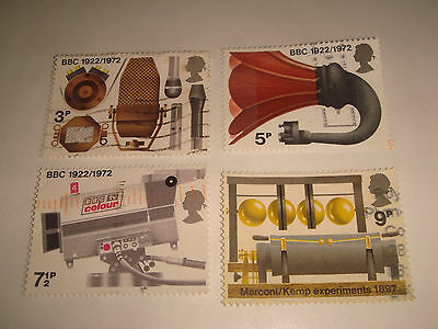 1972 - GB COMMEMORATIVE STAMPS - BROADCASTING ANNIVERSARIES - Set of 4 Used