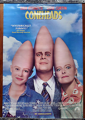 Original Video Movie Poster Coneheads 1993 Dan Aykroid Jane Curtin Aliens Sci-Fi