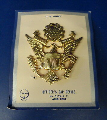 Usaaf Officers Crush Cap Eagle-Early Pointed Wing Style-On Original Cards