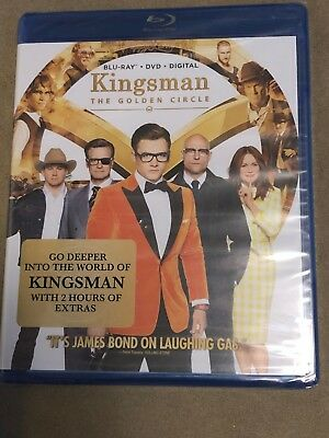 Kingsman: The Golden Circle (Blu-ray/DVD, 2017, 2-Disc Set, Digital) NEW