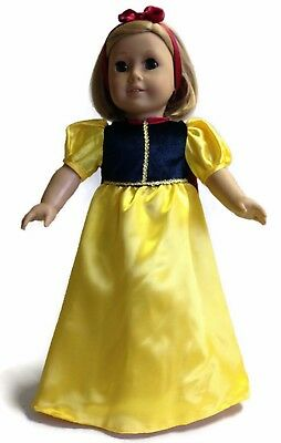 Snow White 3 piece Costume made for 18 inch American Girl Doll Clothes