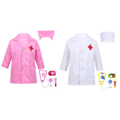312b92f20e Child Doctor Police Surgeon Outfits Fancy Dress up Kids Cosplay Uniform  Costume