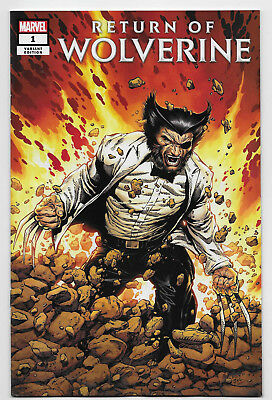 Return of Wolverine #1 Marvel Comics 2018 McNiven Patch Costume Variant Cover