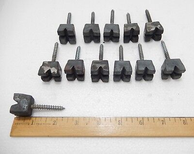 "Set 12 New - Old Stock Hand Forged Iron Large 3/4"" Square Head Lag Screws"