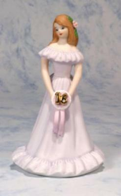 Growing Up Girls, Brunette Age 16 Figurine, New In Box, E9540
