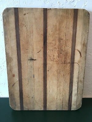ANTIQUE VINTAGE Wooden Country FRENCH BREAD / Veggie CHOPPING CUTTING BOARD