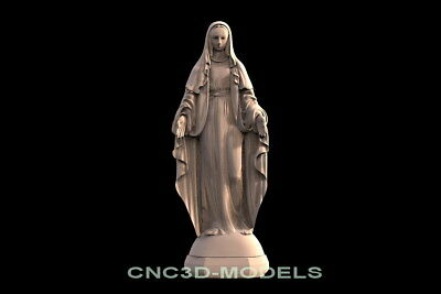 3D Model STL for CNC Router Artcam Aspire Virgin Mary Madonna Blessed f549