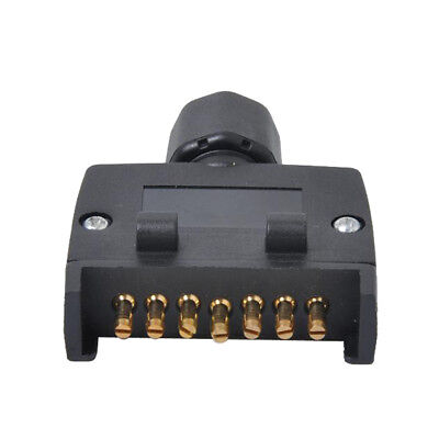 7-Pin Trailer Plug Plastic 7 Pole Trailer Socket Wiring Connector 12V Plug