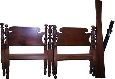 18270 Pair of Period Country Acanthus Carved Twin Beds