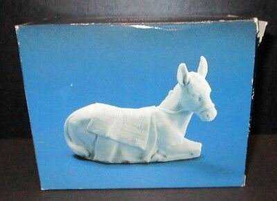 Vintage Avon Nativity Collectibles The Donkey Porcelain Figurine 1984 Christmas
