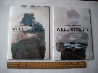 2018 Land Rover Well Storied Volume 1 & 2  Brochures Catalogs