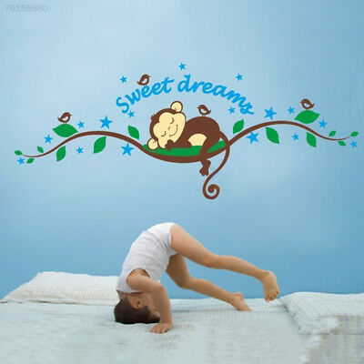 9F4D Kids Monkey Sweet Dream Removable Wall Sticker Pasters Decal Nursery Baby D