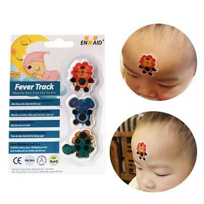 kids children baby care cartoon LCD forehead thermometer sticker Useful