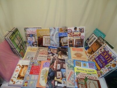huge lot cross stitch patterns books cards country omni christmas animals 130+