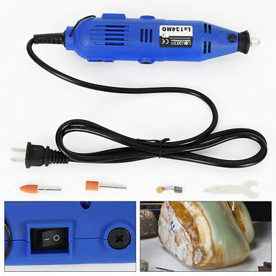 180W Variable Speed Electric Grinder Rotary Mini Drill Polisher Kit US Plug NEW