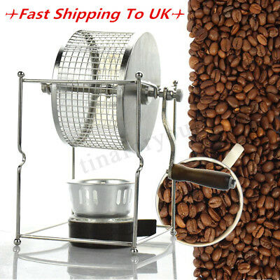 Stainless Steel Coffee Beans Roaster Roasting Machine Manual Roller Kitchen Tool