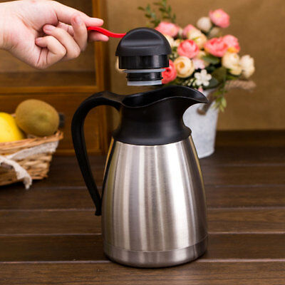 Coffee Vacuum jug Flasks Insulated Thermos Thermal Water Kettle Stainless Steel
