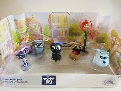 Disney Puppy Dog Pals Rolly Christmas Sketchbook Ornament Figure Play Set of 6pc