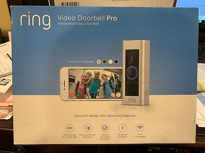 Ring Video Doorbell Pro WiFi 1080P HD Camera Night Vision. NEW & FREE SHIPPING