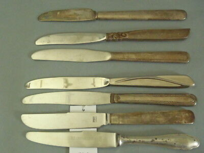 Antique silverplate serving knifes - 7 pc lot 590