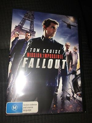 Mission Impossible Fallout Dvd New & Sealed- Free Postage! Region 4