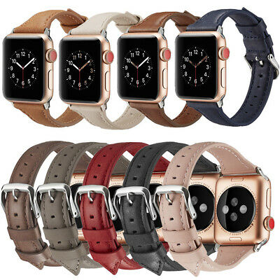 Genuine Leather Band Strap Wrist Bracelet for Apple Watch iWatch Series 4/3/2/1
