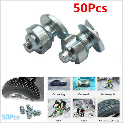 50x Car Wheel Tyre Studs Screw Spikes Snow Chains Studs For Motorcycle ATV Tires