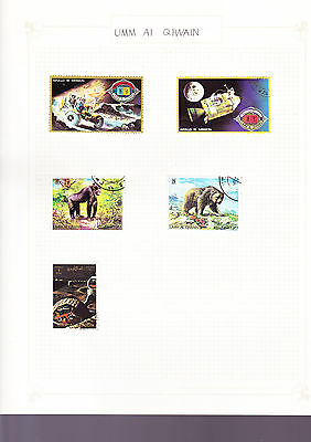 Umm al-Quwain Stamps - Animal Space and Bird Themed
