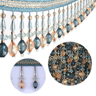 Beaded Lace Curtain Sewing Fringe Tassel Trimming Upholstery Ribbon Accessory