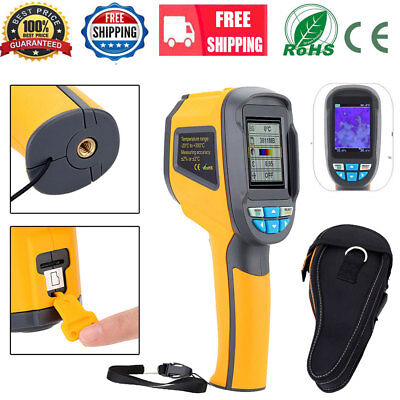 HT-02 Handheld Thermal Imaging Camera Infrared IR Thermometer +Black Carry Case