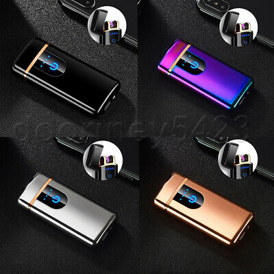 Smart Touch Sensor USB Double Arc Flameless Plasma Electric Lighter Xmas Gifts