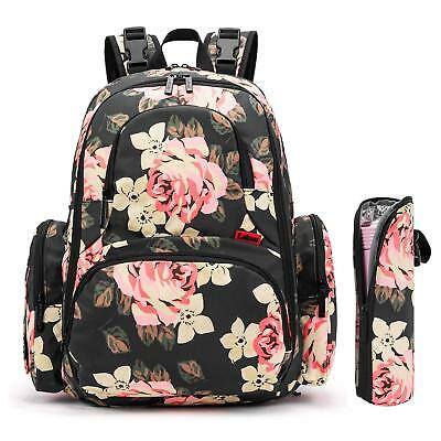 Baby Diaper Backpack With Insulated Pockets Water-resistant Baby Bag Mommy Bag