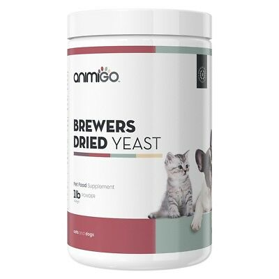 Brewer's Dried Yeast Powder - Pet Supplies - Skin & Coat Care - 454g - Animigo