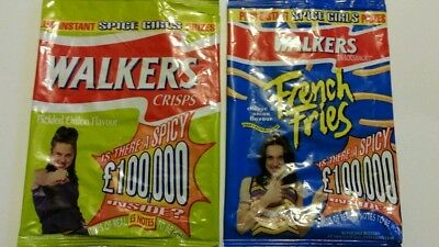 Spice Girls walkers crisps packets. Sporty Spice french fries & Pickled onion
