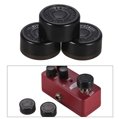 3pcs Footswitch Topper Protector ABS Bumpers for Guitar Effect Pedal Black N3B1