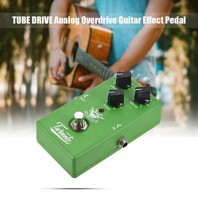 Twinote TUBE DRIVE Analog Overdrive Guitar Effect Pedal Processsor Full F4R6