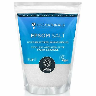PraNaturals Epsom Salt 1KG Bath Spa Pure Natural Magnesium Sulphate Mineral-Rich