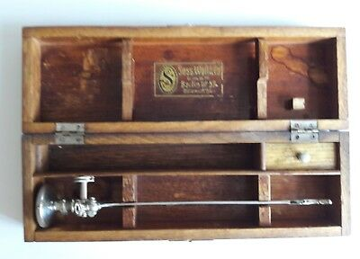 Cased Antique Sass Wolf & Co Berlin Childs Cystoscope ZEISS KOLMMORGEN LENS rare