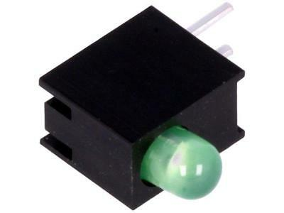 10x 10x H30E-1GD LED in housing No.of diodes1 3mm THT green 20-30mcd 80°