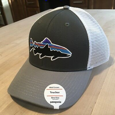 8a4fb783f9e Patagonia Fitz Roy Trout Trucker Hat - New With Tags - Forge Grey Feather  Grey