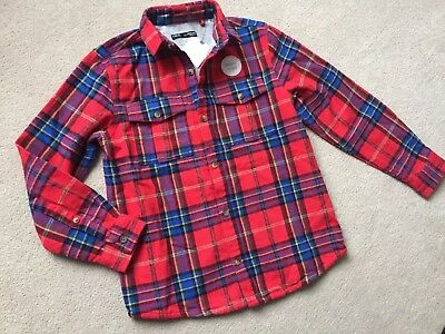Boys Next Shirt Brushed Cotton Lined With Jersey. Size 9 Years BNWT Xmas Lumber