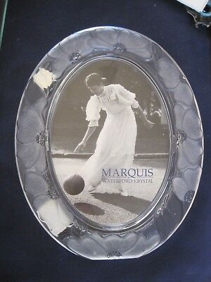 """Marquis Waterford Crystal Oval Frame 7"""" x 5"""" Opening 9 3/4"""" x 7 1/2"""""""