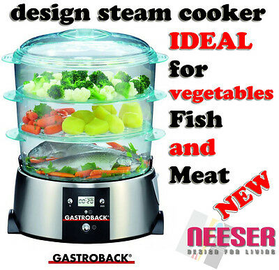 Electric STEAMER for carefully cooking vegetables, rice, fish and meat 42510