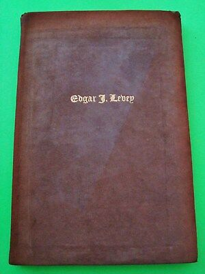 Obscure 1912 FULL SUEDE Memorial EDGAR J. LEVEY Manhattan Comptroller NEW YORK