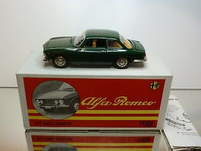 Togi 8/65 Alfa Romeo Giulia Gt - Dark Green 1:23 - Excellent Condition In Box